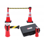 Traffic Cone Retractable Belt Cone Topper - 4 Pack with Case
