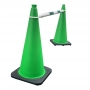 Retractable Cone Bar Green & White