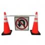 Custom Cone Bar Roll Up Sign