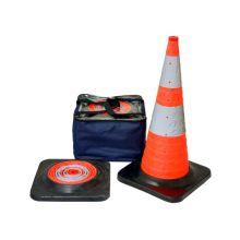 "Buy 30"" Orange Collapsible Pop Up Cone Reflective Black Base w/4 LED Lights (5 pack) on sale online"
