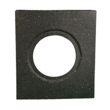 Cortina Recycled Square 10 lbs Black Rubber Base