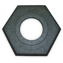 Buy Cortina Recycled Hexagon 16 lbs Black Rubber Base on sale online