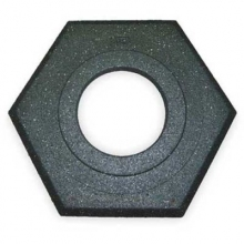 Cortina Recycled Hexagon 16 lbs Black Rubber Base