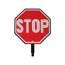 "Cortina LED 12"" Stop Sign HIP Paddle w/Padded Handle"