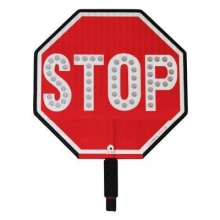 "Cortina LED 18"" Stop Sign HIP Paddle w/Padded Handle"