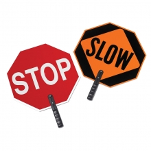 "Stop/Slow Plastic Paddle w/9"" Polygrip Handle"