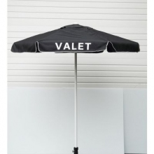 Valet Black Podium Aluminum Frame Umbrella