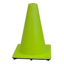 "12"" Lime Green 1.5 lbs Traffic Cone USA Made"