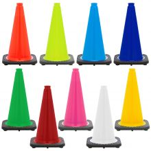 "18"" Traffic Safety Cone Black Base, 3lbs"