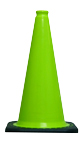 "18"" Lime Green Cone w/Black Base"
