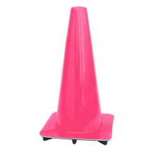 "Lakeside 18"" Pink Traffic Cones, Made in USA"