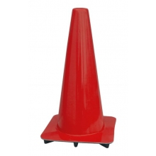 "Lakeside 18"" Red Traffic Cones, Made in USA"