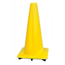 "Lakeside 18"" Yellow Traffic Cones, Made in USA"