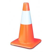 "18"" Orange Traffic Cones w/6"" Reflective Collar, Made in USA"