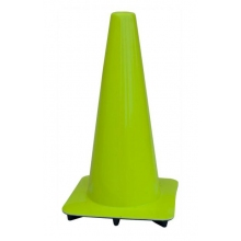 "Lakeside 18"" Lime-Green Traffic Cone, Made in USA"