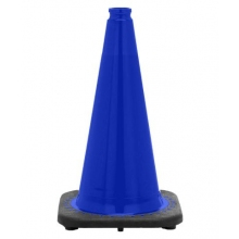 "18"" Navy Blue Traffic Cone Black Base, 3 lbs"
