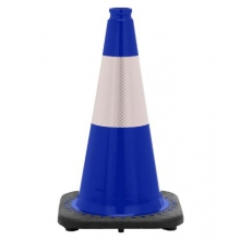 "18"" Navy Blue Traffic Cone Black Base, 3 lbs w/6"" Reflective Collar"