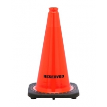 "Reserved 18"" Traffic Cone Black Base, 3 lbs"