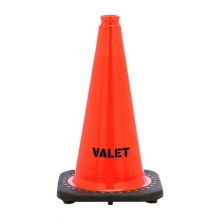 "Valet 18"" Traffic Cone Black Base, 3 lbs"
