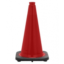 "18"" Red Traffic Cone Black Base, 3 lbs"
