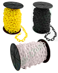 Plastic Chain 2-Inch links 125 feet on a reel - (available in 6 colors)