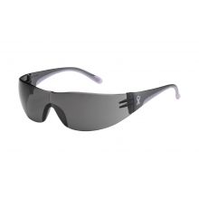 Eva Rimless Safety Glasses with Gray/Pink Temple, Gray Lens & Anti-Scratch Coating