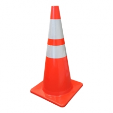 "28"" Orange Based Traffic Cone w/ 6"" & 4"" Reflective Collars"