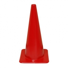 "Lakeside 28"" Red Traffic Safety Cone, 7 lbs"