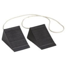 Compact Aviation Wheel Chocks w/ 4 Feet Nylon Rope