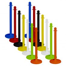"Buy Traffic Control Medium Duty Plastic 40"" Stanchion (Pack of 2) on sale online"