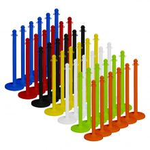 "Buy Traffic Control Medium Duty Plastic 40"" Stanchion (Pack of 6) on sale online"