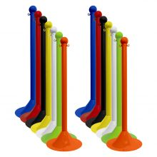 "Buy Traffic Control Light Duty Plastic 41"" Stanchion (Pack of 2) on sale online"