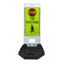 Step-N-Lock Vertical Panel - Stop For Pedestrians