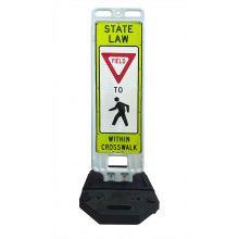 Buy Step-N-Lock Vertical Panel - Yield To Pedestrians on sale online