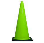 "36"" Lime Green Traffic Cone w/Black Base 10 Lbs"