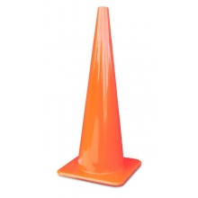 """36"""" All Orange Traffic Cones Made in USA on Sale"""