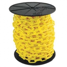 "Heavy Duty Reel Plastic Chain, 2"" x 100 ft"