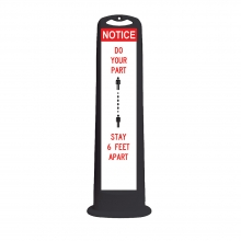 Trailblazer XL Black Vertical Panel - Notice Do Your Part 6 Feet Apart