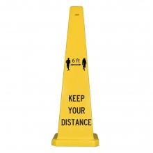 "Lamba 36"" Safety Cone -  6 Ft Keep Your Distance"