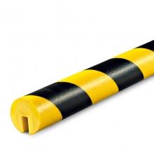 Edge Protection, Type B, Black / Yellow, I-Beam Shelf slide-on, non-adhesive, 39 3/8 in