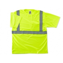 Buy Short Sleeve T Shirt  Lime w/reflective strips on sale online