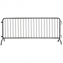 Galvanized Steel 8ft Barricade w/ Bridge Feet