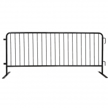 Galvanized Steel 8ft Barricade w/ Flat Feet