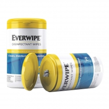 Everwipe Disinfectant Wipes (75 Wipes/Tub, 6 Tubs/Case) Free Shipping