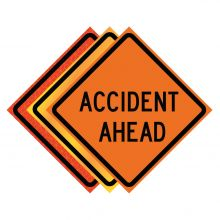 """Buy 36"""" x 36"""" Roll Up Traffic Sign - Accident Ahead on sale online"""