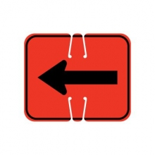 Traffic Cone Sign - REVERSIBLE ARROW