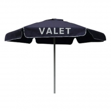 Valet Navy Blue  Podium Aluminum Frame Umbrella