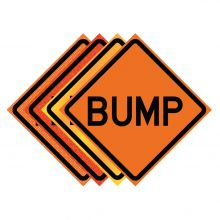 "Buy 36"" x 36"" Roll Up Traffic Sign - Bump on sale online"