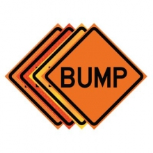 "36"" x 36"" Roll Up Traffic Sign - Bump"