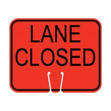 Traffic Cone Sign - LANE CLOSED
